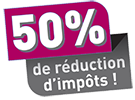 50% Réduction d'impot