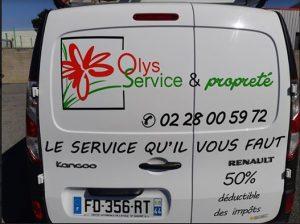 Nouveau véhicule d'Olys Service